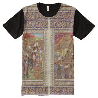 Mughal Indian India Islam Islamic Muslim Boho Art All-Over-Print T-Shirt