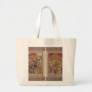 Mughal Indian India Islam Islamic Muslim Boho Art Large Tote Bag