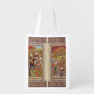 Mughal Indian India Islam Islamic Muslim Boho Art Reusable Grocery Bag
