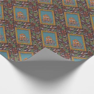 Mughal Indian India Islam Persian Persia Elephant Wrapping Paper