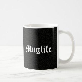 Muglife Funny Humor Thug Life Parody Vintage Black Coffee Mug
