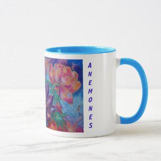 Mugs, Floral,Anemones, paainting Mug