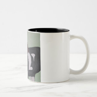 Mug's katie the horse Two-Tone coffee mug