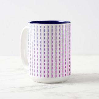 Mugs_Miami-Sunset-_Checks_ Two-Tone Coffee Mug
