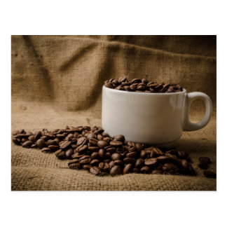 Mugs of Coffee Bean Postcard