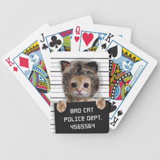 mugshot cat - crazy cat - kitty - feline bicycle playing cards