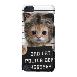 mugshot cat - crazy cat - kitty - feline iPod touch 5G case