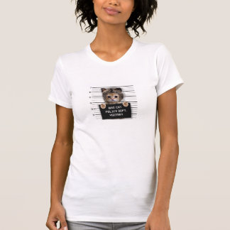 mugshot cat - crazy cat - kitty - feline T-Shirt