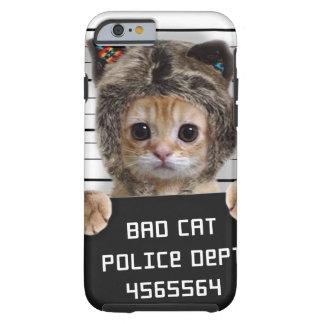 mugshot cat - crazy cat - kitty - feline tough iPhone 6 case