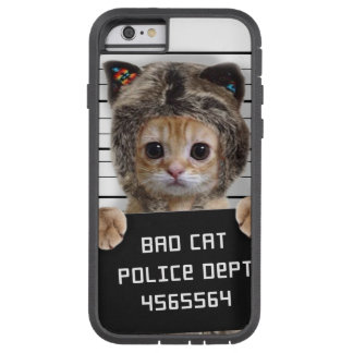 mugshot cat - crazy cat - kitty - feline tough xtreme iPhone 6 case