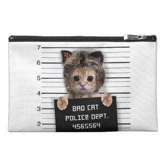 mugshot cat - crazy cat - kitty - feline travel accessory bag