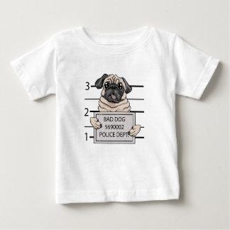 mugshot dog cartoon. baby T-Shirt