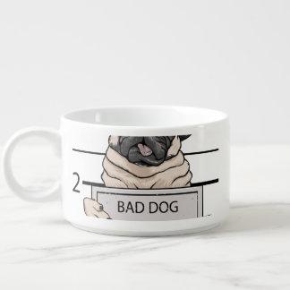 mugshot dog cartoon. chili bowl