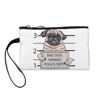 mugshot dog cartoon. coin purses