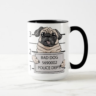 mugshot dog cartoon. mug