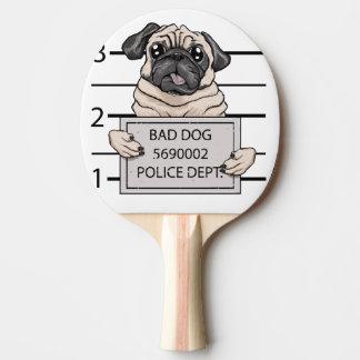 mugshot dog cartoon. Ping-Pong paddle