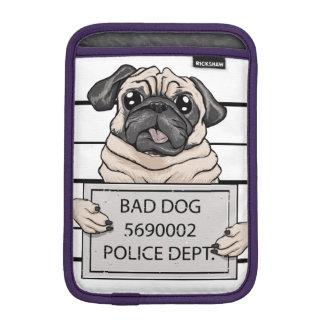 mugshot dog cartoon. sleeve for iPad mini