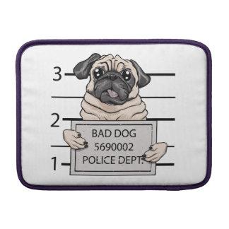 mugshot dog cartoon. sleeve for MacBook air