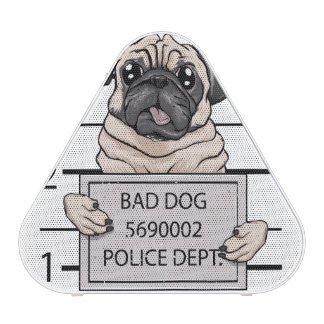 mugshot dog cartoon. speaker