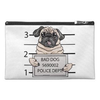 mugshot dog cartoon. travel accessories bags