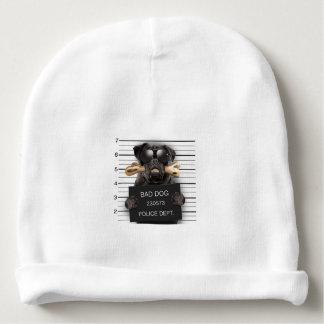 Mugshot dog,funny pug,pug baby beanie