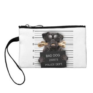 Mugshot dog,funny pug,pug coin wallet