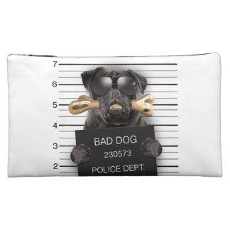 Mugshot dog,funny pug,pug cosmetic bags