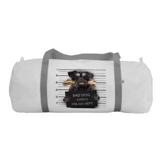 Mugshot dog,funny pug,pug gym bag