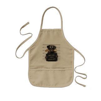 Mugshot dog,funny pug,pug kids apron