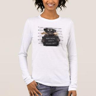 Mugshot dog,funny pug,pug long sleeve T-Shirt