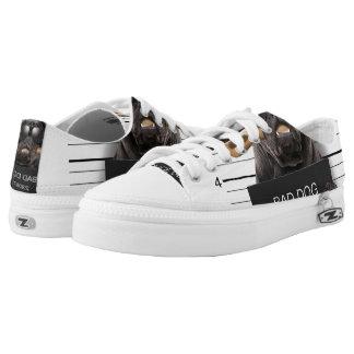Mugshot dog,funny pug,pug Low-Top sneakers