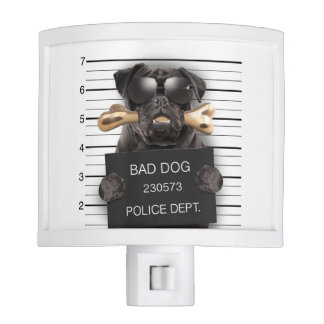 Mugshot dog,funny pug,pug night light