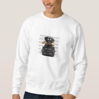 Mugshot dog,funny pug,pug sweatshirt