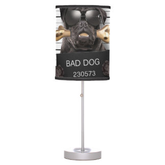Mugshot dog,funny pug,pug table lamp