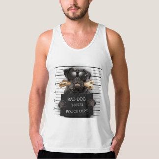 Mugshot dog,funny pug,pug tank top