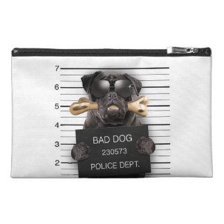 Mugshot dog,funny pug,pug travel accessory bag