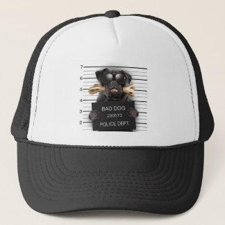 Mugshot dog,funny pug,pug trucker hat