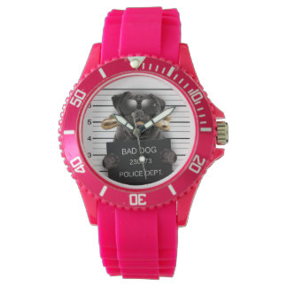 Mugshot dog,funny pug,pug watch