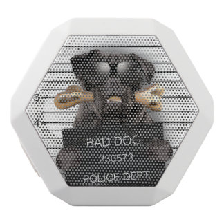 Mugshot dog,funny pug,pug white bluetooth speaker