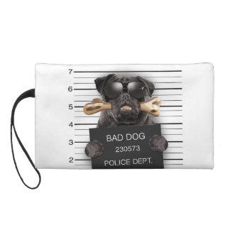 Mugshot dog,funny pug,pug wristlet purses