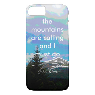 Muir quote the mountains are calling nature photo iPhone 7 case