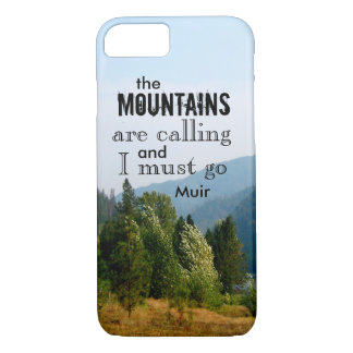 Muir quote the mountains are calling nature photo iPhone 8/7 case
