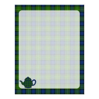 Muir Tartan Plaid Teapot Letterhead Design