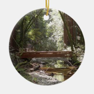 Muir Woods Bridge II Ceramic Ornament