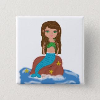 Muirenn the Mermaid Button