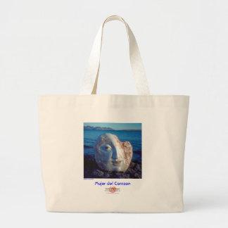 Mujer del Corazon/Bag Large Tote Bag