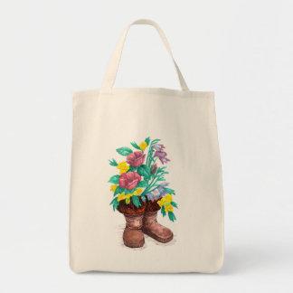 Mukluk Boot Flower Planter Shopping Tote