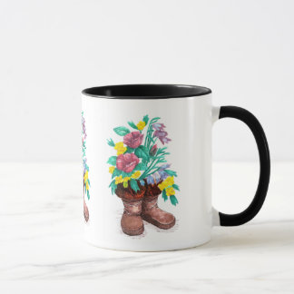 Mukluk Flower Boots Coffee Cup Mug