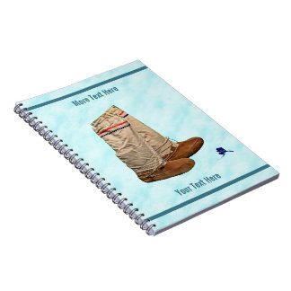 Mukluks On Snow Spiral Notebook