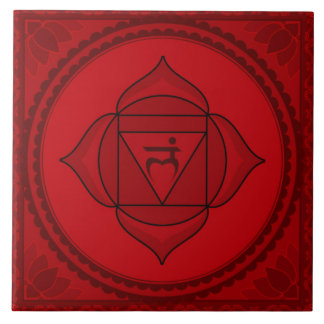 Muladhara or Root Chakra Large Square Tile
